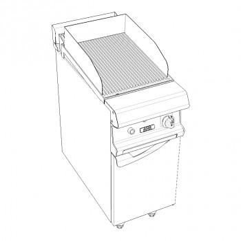 GRILLADE PLAQUE FONTE SUR PLACARD FERME GAZ 8kW GAMME CELTIC CAPIC