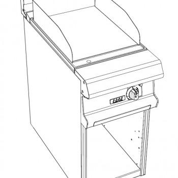 GRILLADE INOX ELEC 5kW SUR PLACARD OUVERT GAMME CELTIC CAPIC